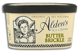 Alden's @@Butter Brickle Ice Cream, Frozen, Organic